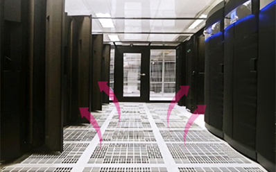 Provides an intensive air-conditioning environment suitable for high-density server room environments